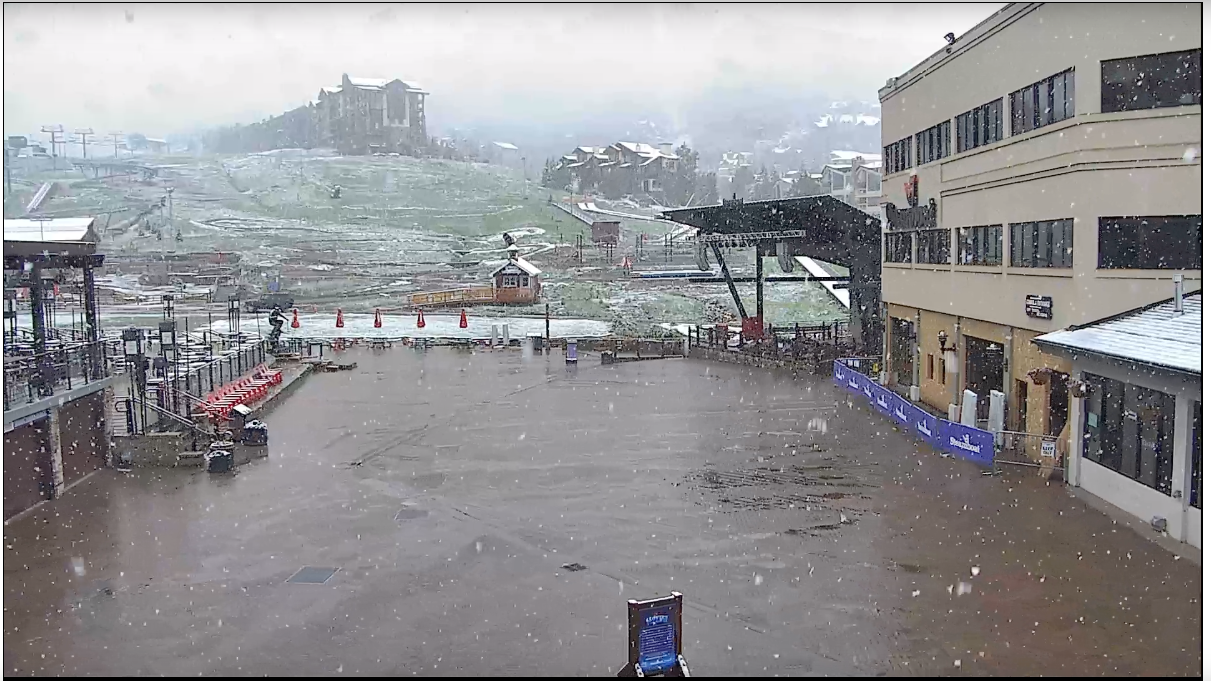 June 21, 2019 - Steamboat getting hit with late June snow, down to the base!